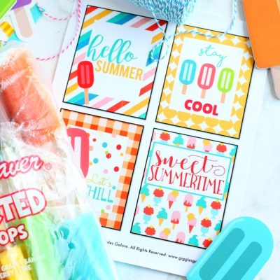 Free Summer Popsicle Gift Tags