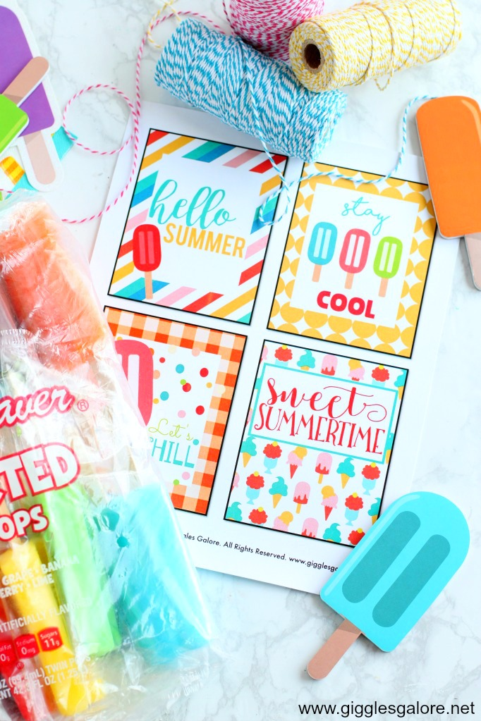 graphic about Popsicle Printable called Absolutely free Summer months Popsicle Present Tags - Giggles Galore