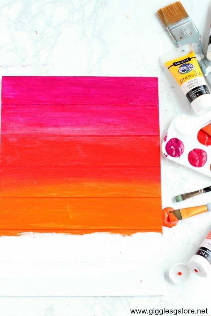 Summer sunset painting step 2