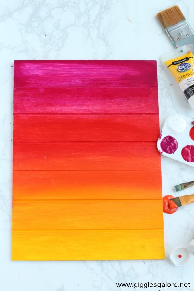 Summer sunset painting step 3