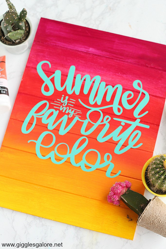 Summer sunset pallet sign