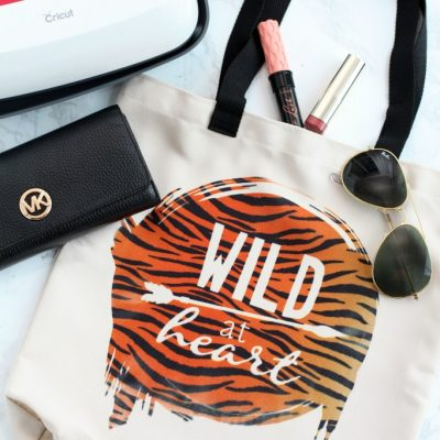 Wild at Heart Tote Bag with Cricut Infusible Ink