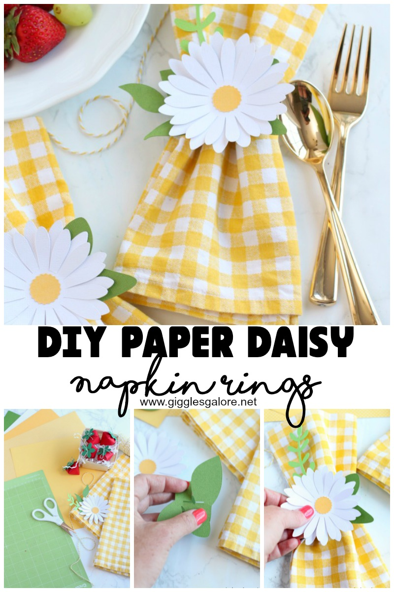 Diy Paper Daisy Napkin Rings Giggles Galore