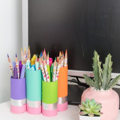 DIY Paper Roll Pencil Cup