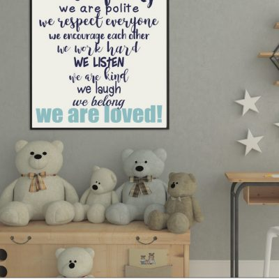 Printable Classroom Rules Sign
