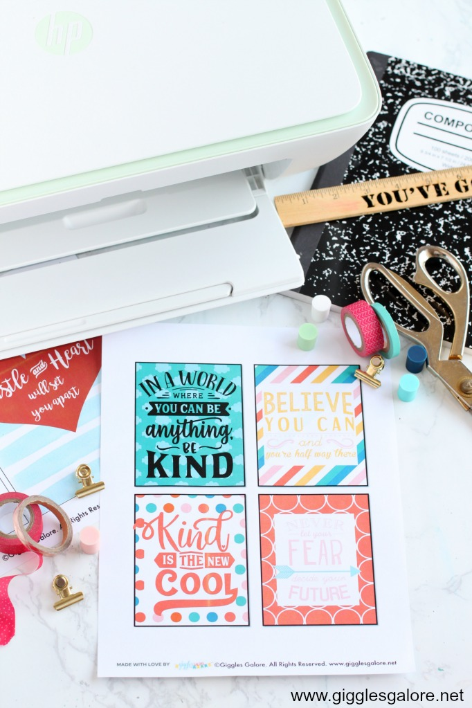 Free inspirational locker printables