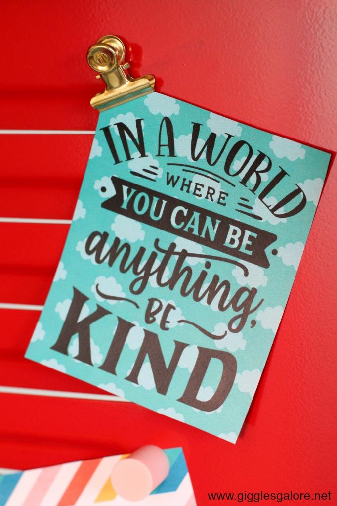 Kindness locker printable