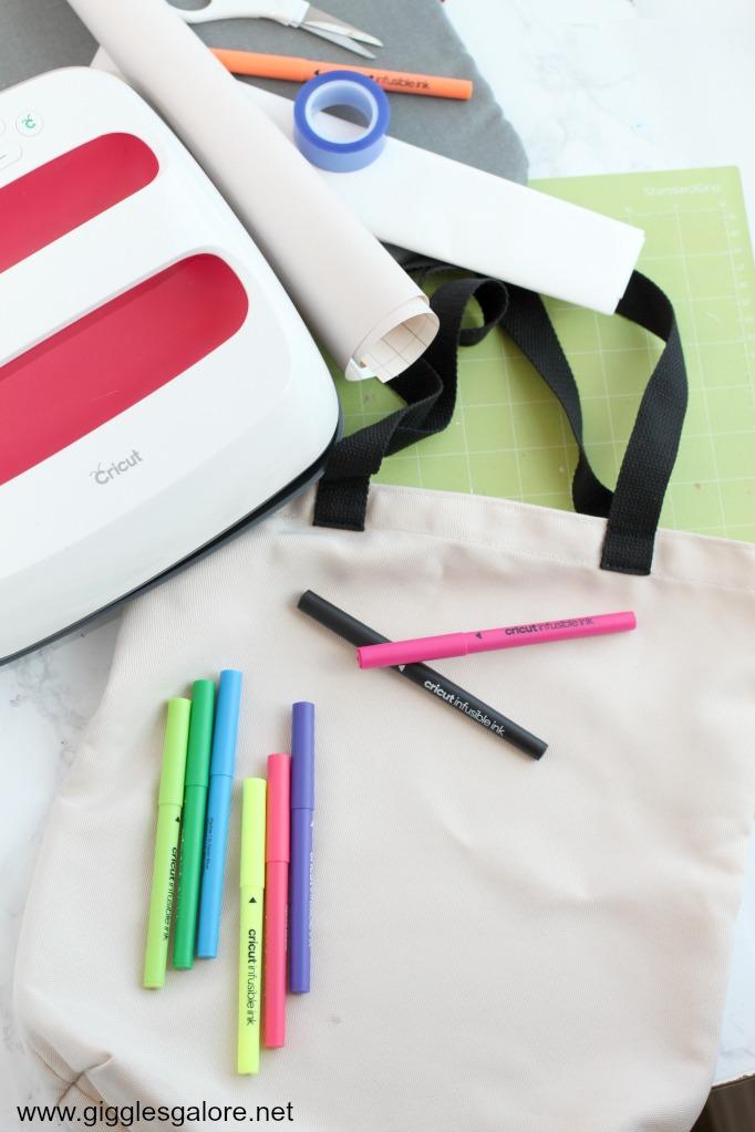 Cricut infusible ink pen tote bag supplies