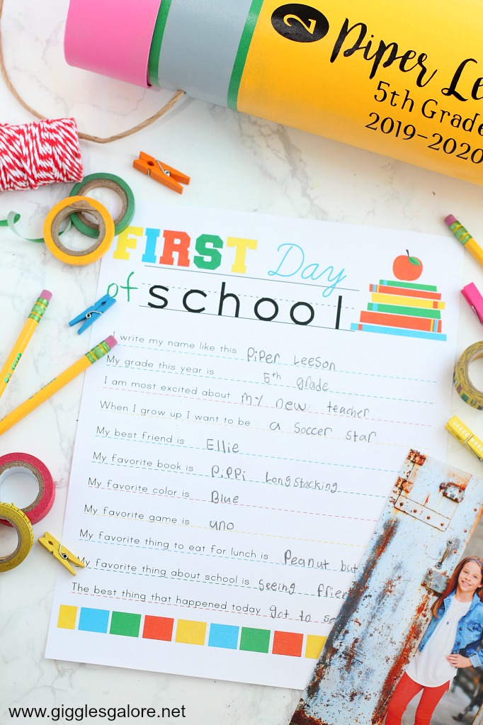 Diy back to school time capsule step 7