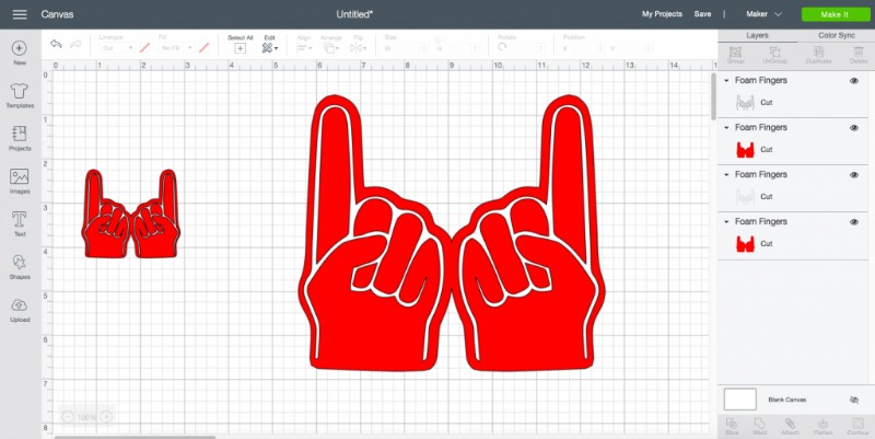 Diy foam finger svg