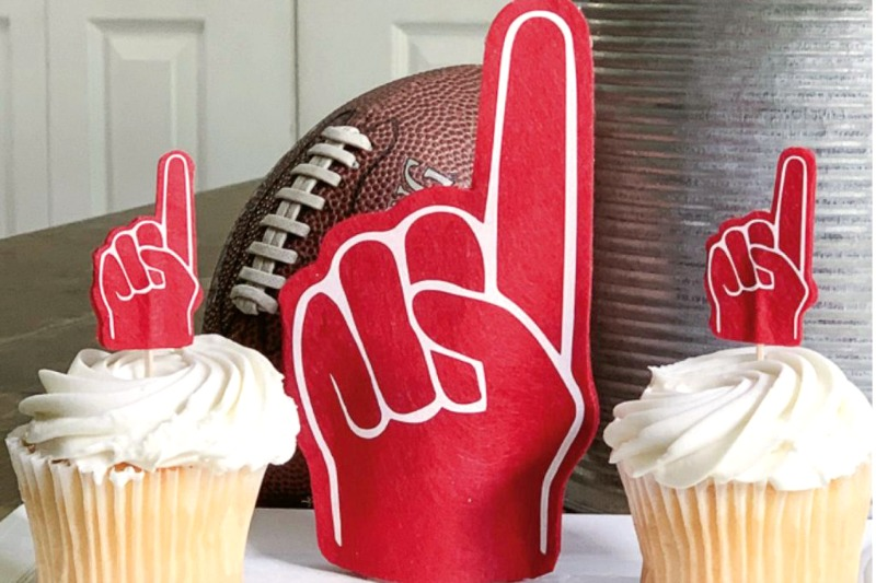 Diy football foam finger cricut project