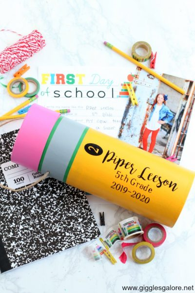 Diy pencil back to school time capsule