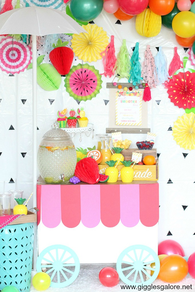 Diy smoothie bar cart