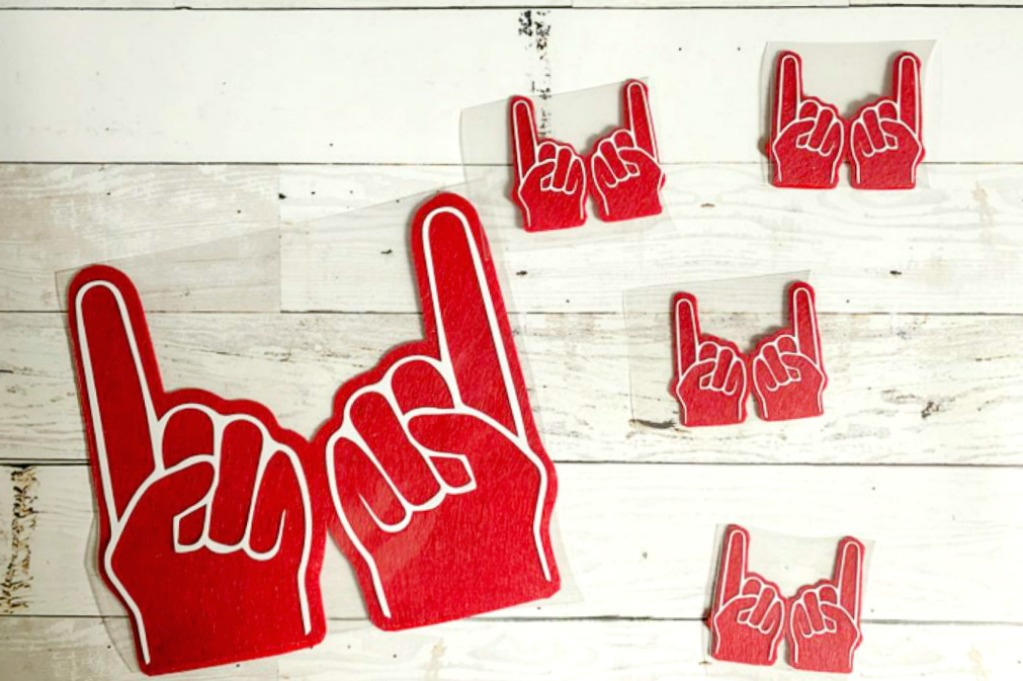 Foam finger diy with cricut maker