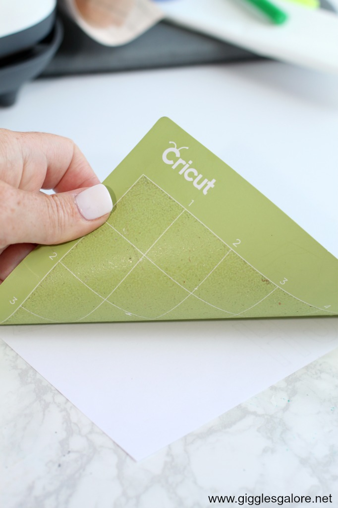 Removing cricut infusible ink from mat