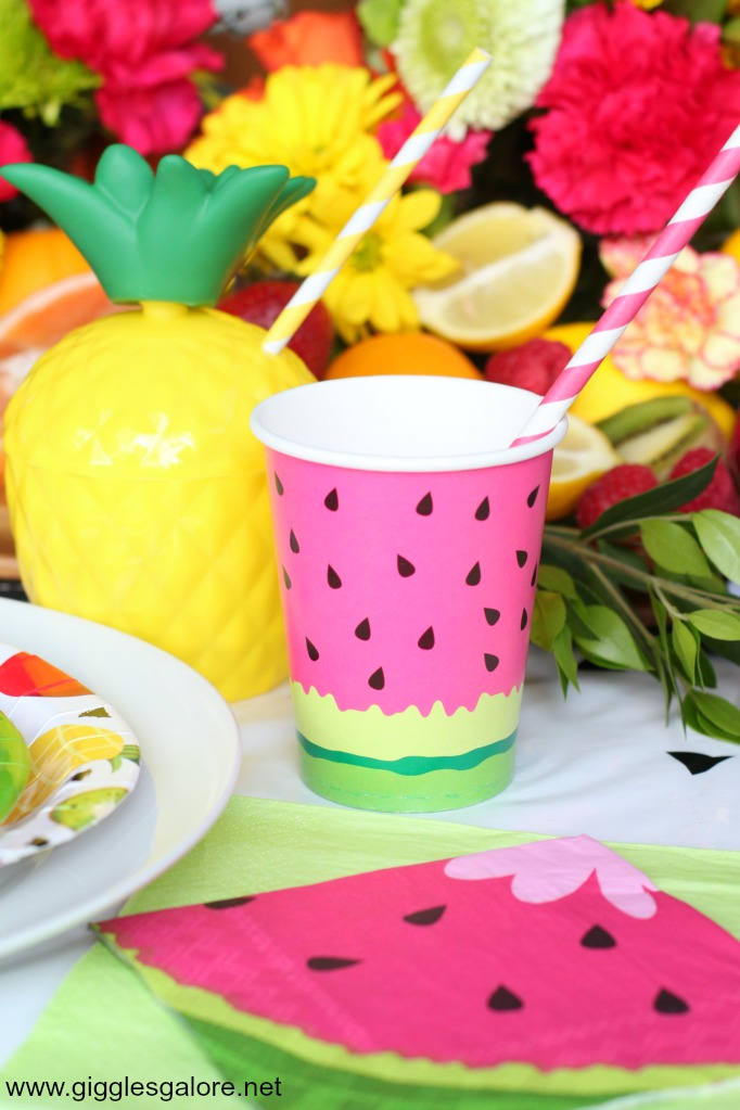 Summer fruit party cups