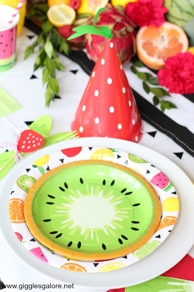 Summer fruit party table setting