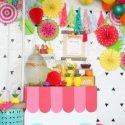 Summer fruit smoothie birthday party ideas