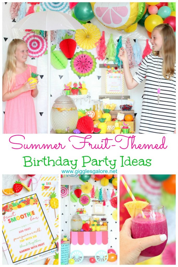 Summer fruit themed birthday party ideas pinterest