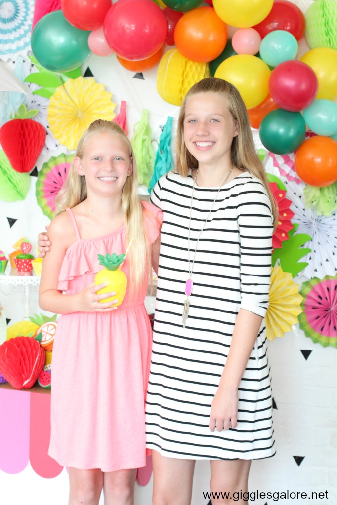 Tween fruit themed birthday party ideas