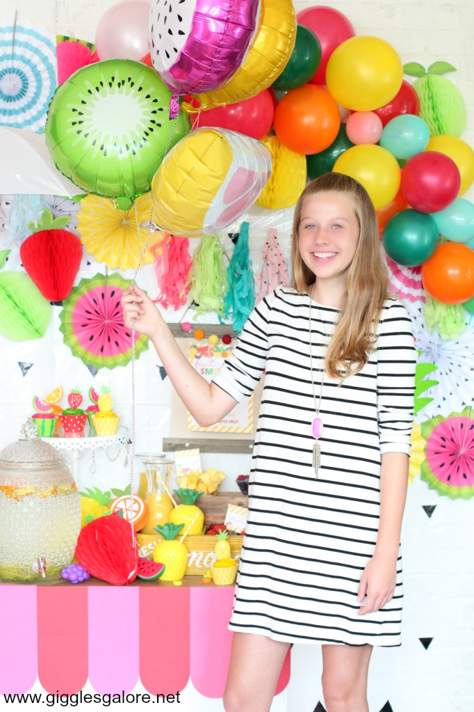 Tween summer fruit party decorations