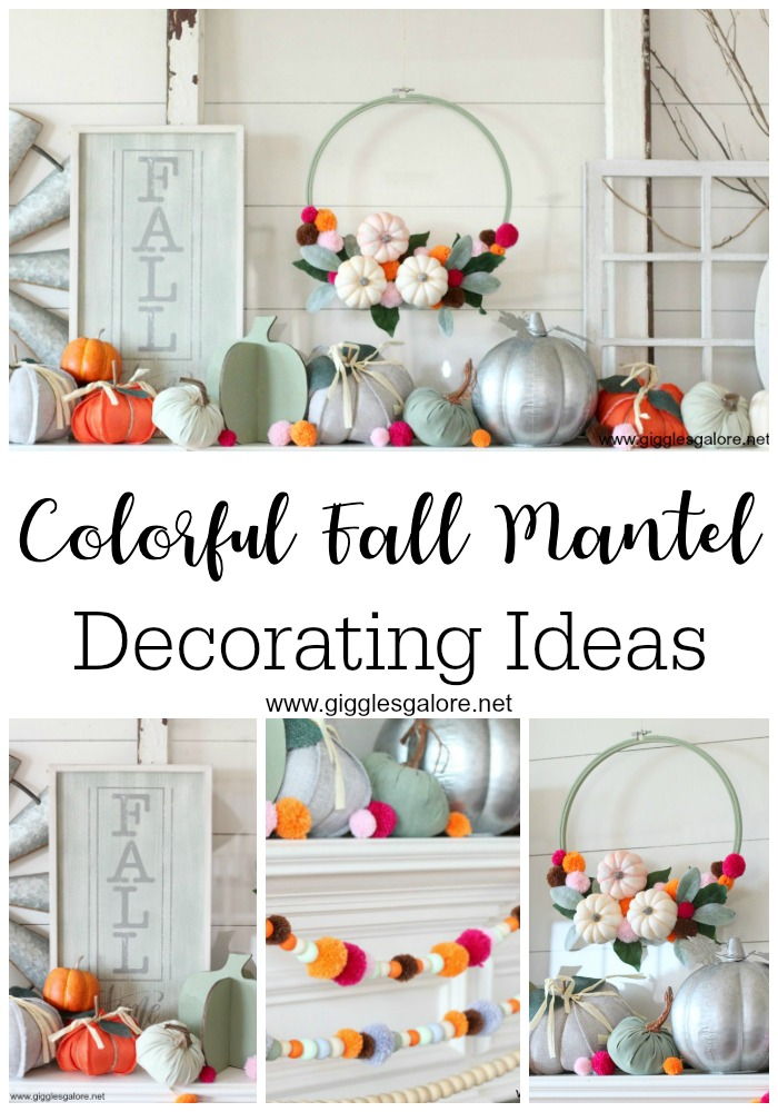 Colorful fall mantel decorating ideas giggles galore