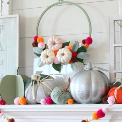 Colorful Fall Mantel Decorating Ideas