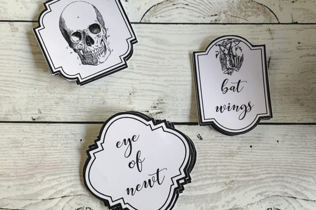 Free Halloween Apothecary Labels