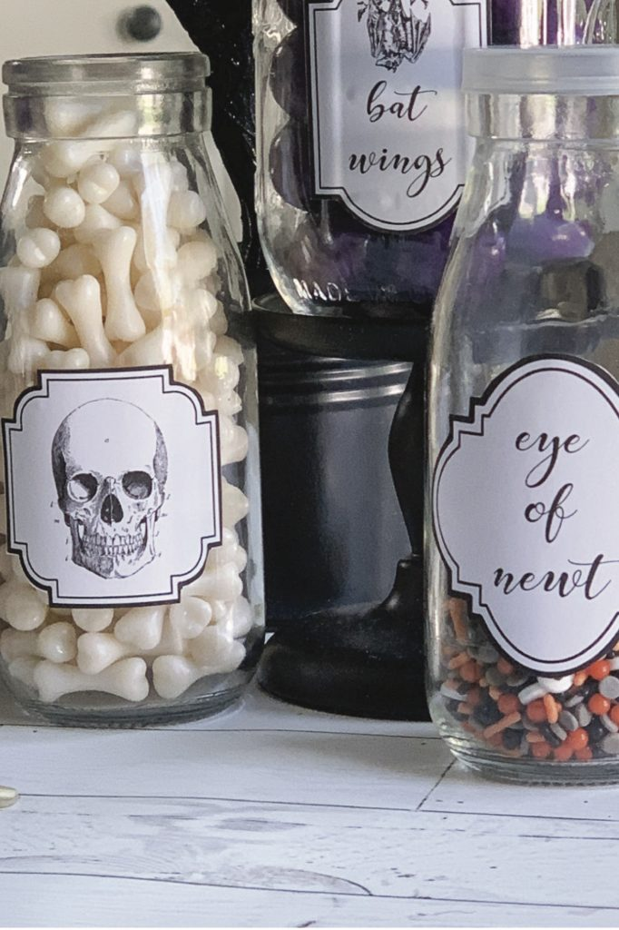 Candy Jars with Free Printable Labels