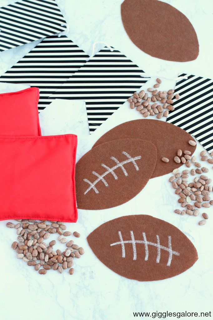 Football cornhole bean bags