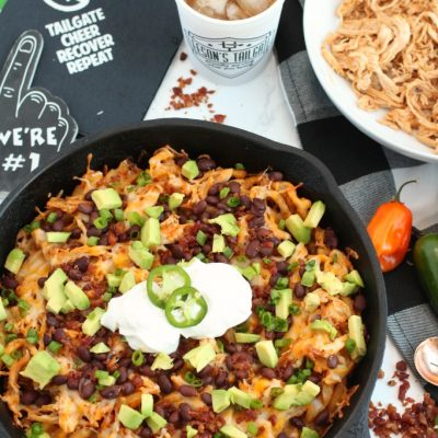 Loaded BBQ Chicken Skillet Fries