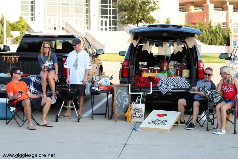Game day tailgating with friends