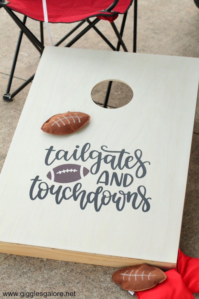 Tailgates and touchdowns cornhole boards