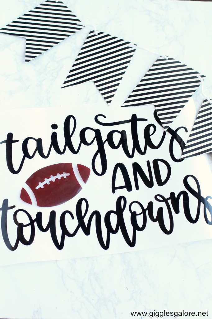 Tailgates and touchdowns football svg