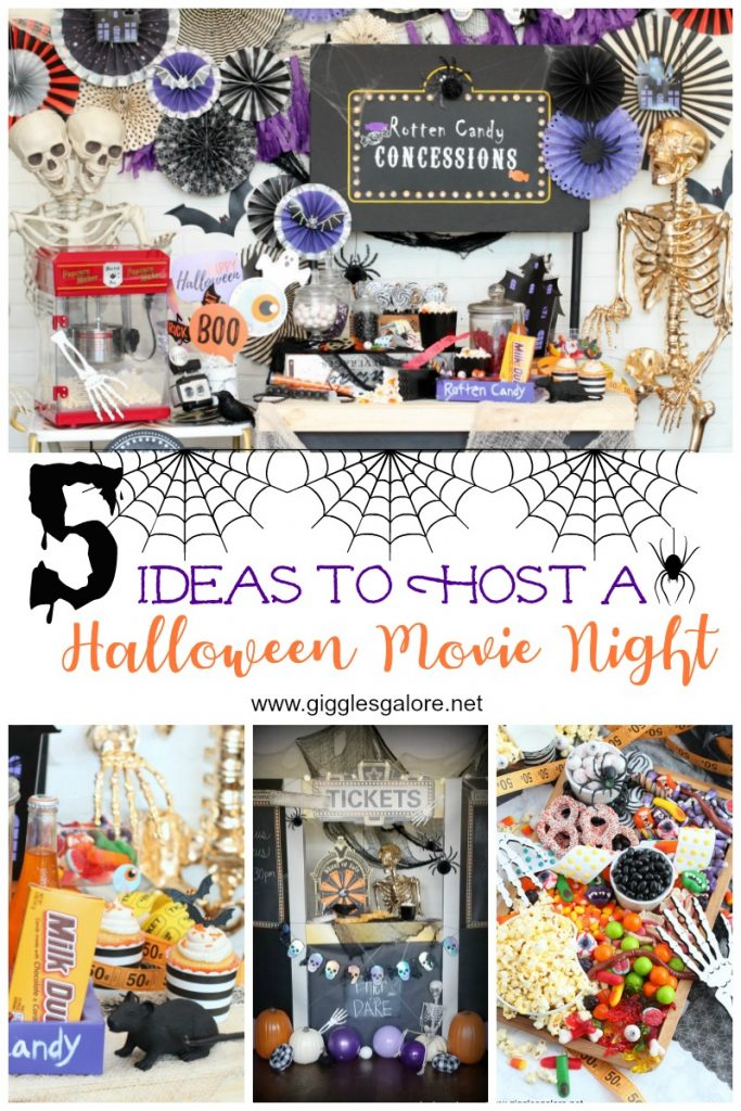 5 ideas to host a halloween movie night