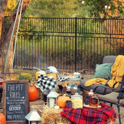 Backyard fall bonfire party