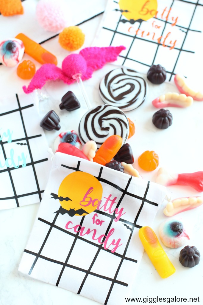 Batty for candy halloween favor bags with cricut easypress