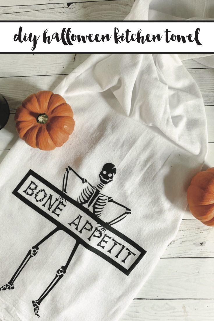 Diy halloween kitchen towel 8 copy