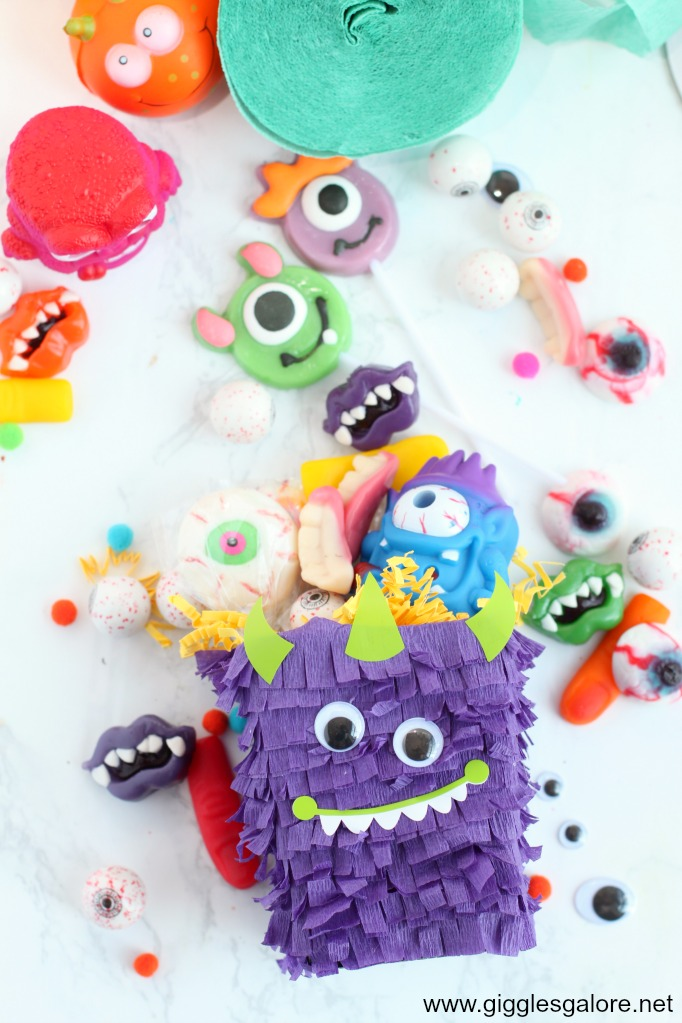 Diy pinata monster favor box