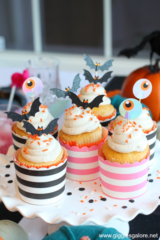 Eye am batty for you halloween cupcakes