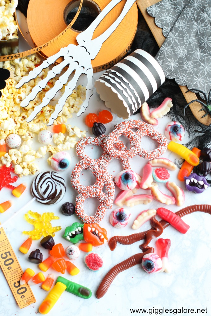 Halloween candy charcuterie board candy