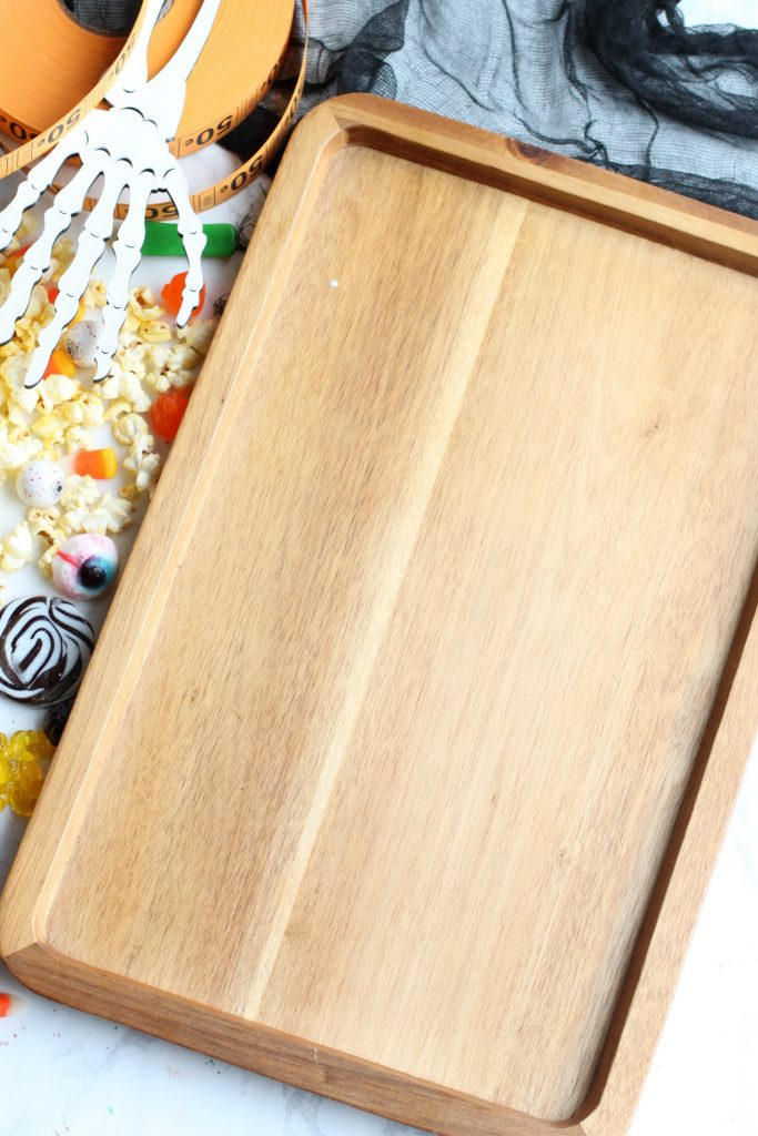 Halloween candy charcuterie board tray