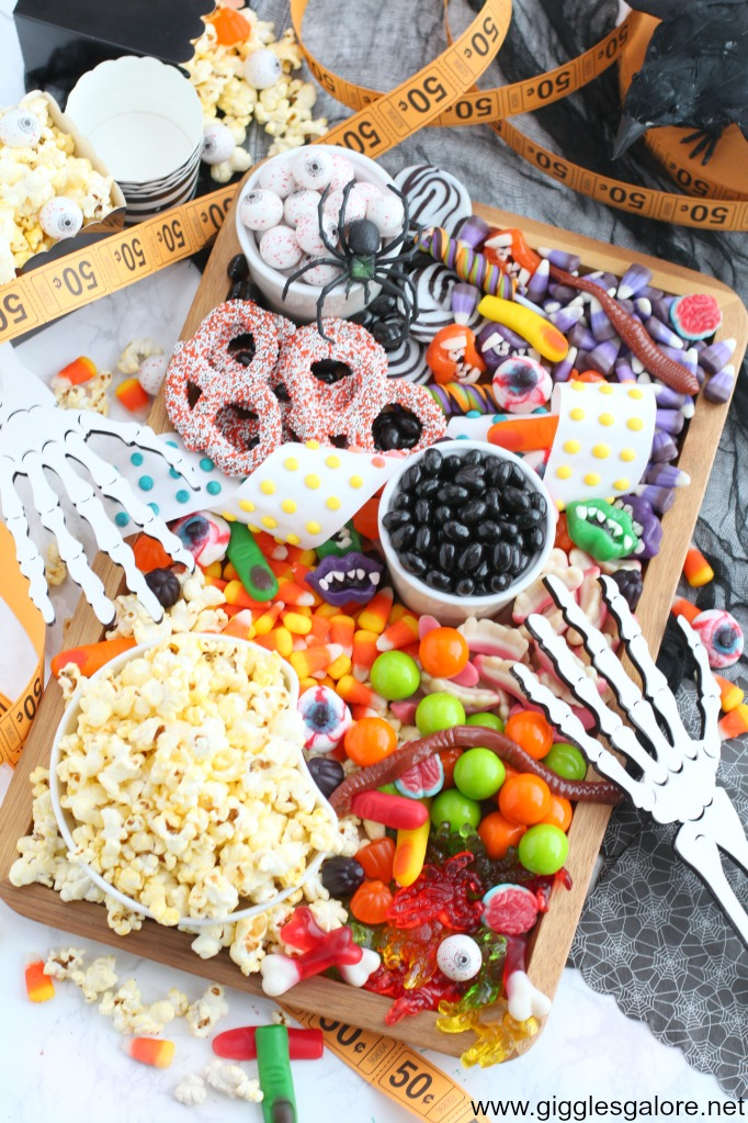 Halloween candy charcuterie board