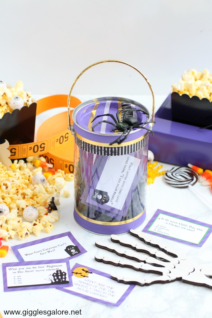Halloween movie trivia game