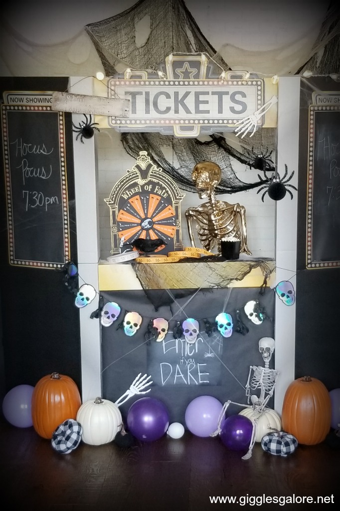 Haunted movie ticket booth