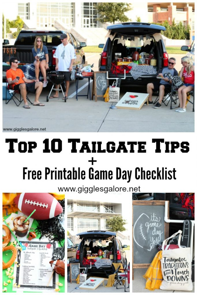 Top 10 tailgate tips