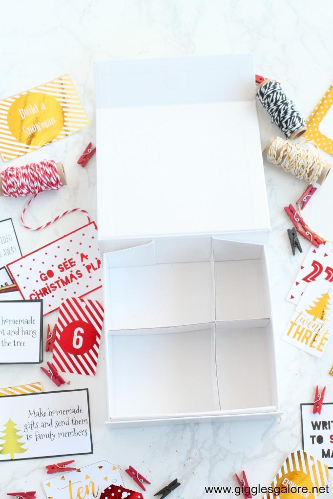 Activity advent calendar box