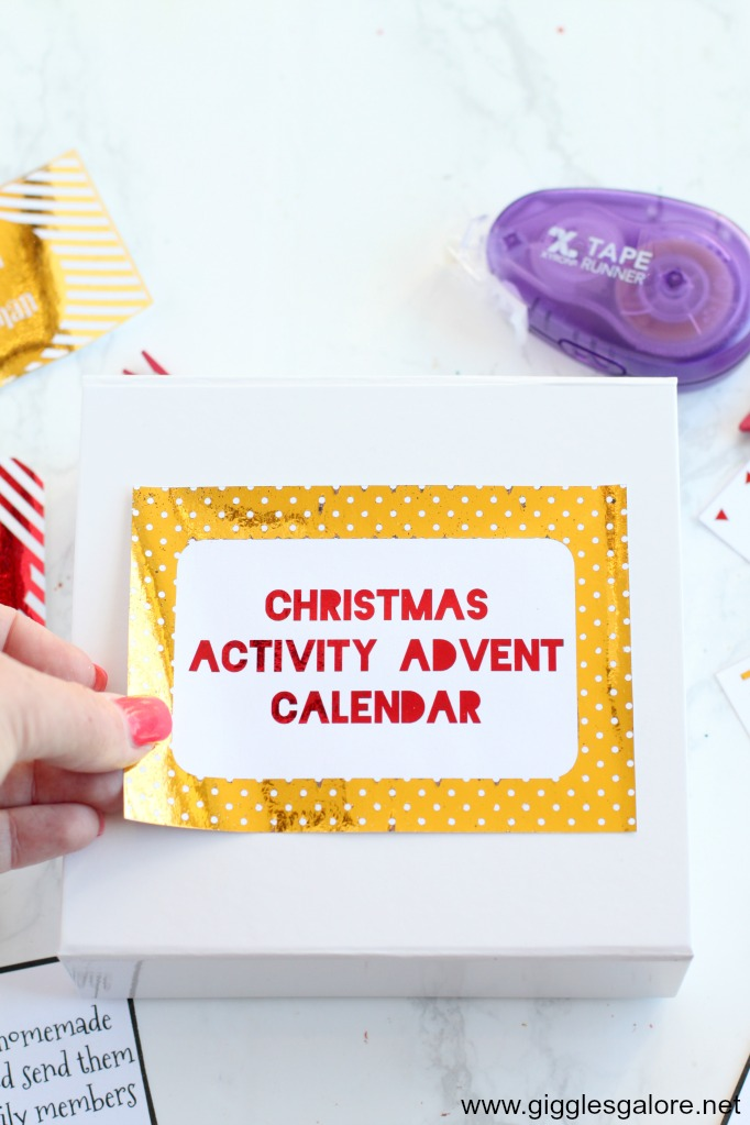 Activity advent calendar label