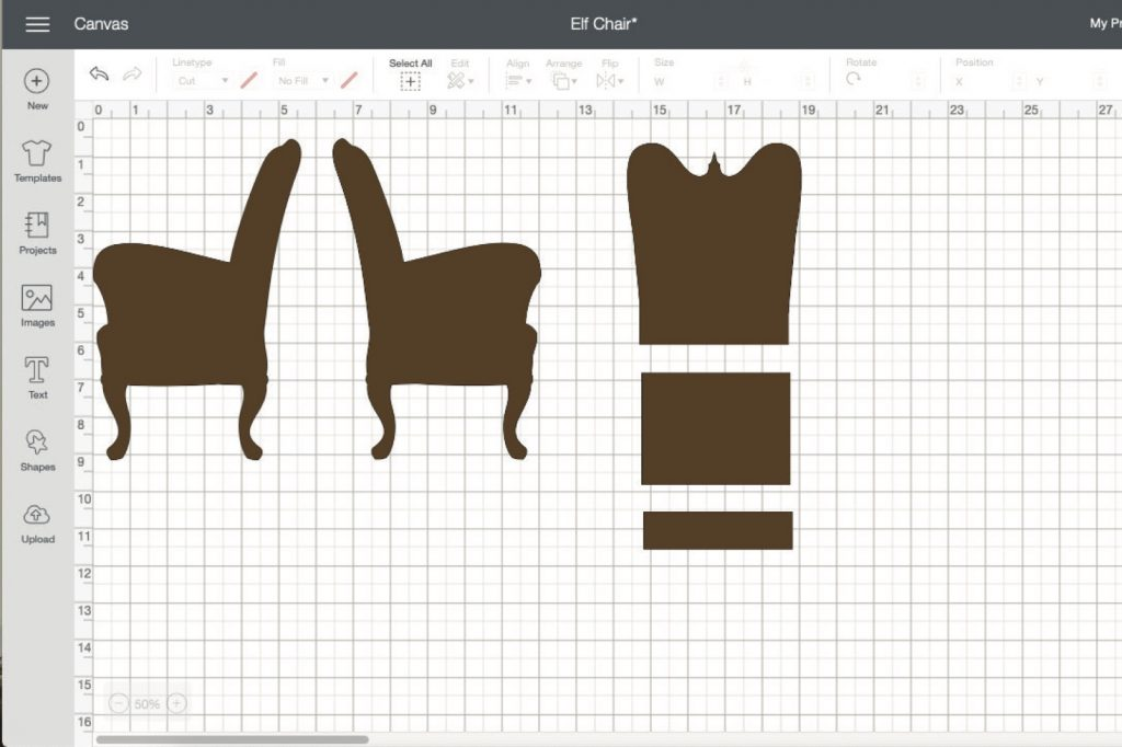 Chipboard diy doll chair cricut design space page copy