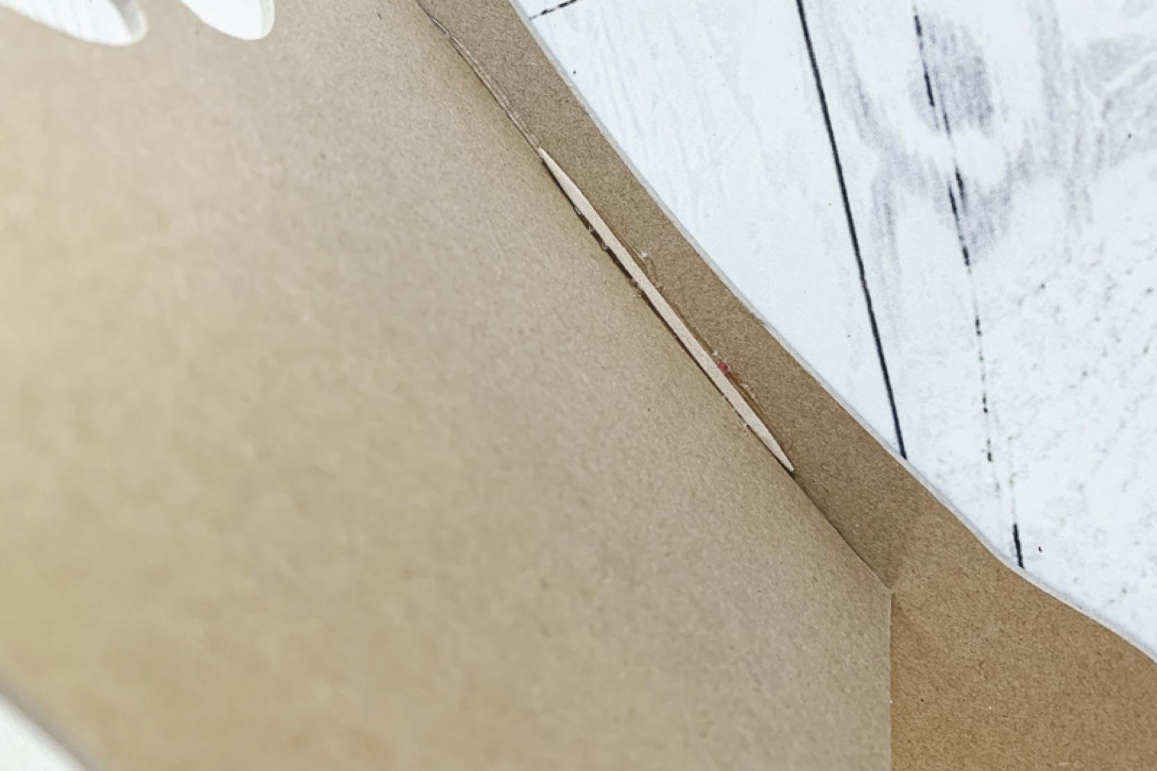 Chipboard diy doll chair glue corner step copy